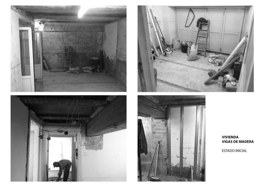 Antes y en obras