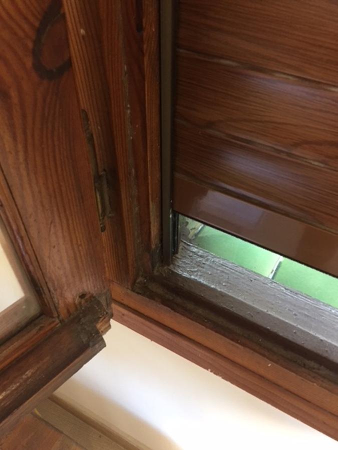 Antigúas ventanas sin goma de estanqueidad