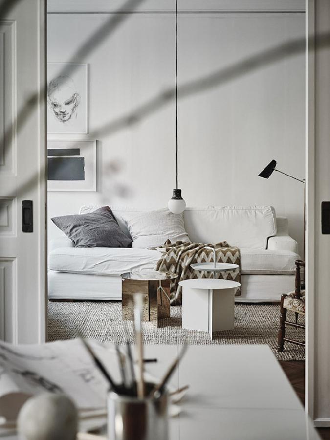 detalle de un apartamento escandinavo