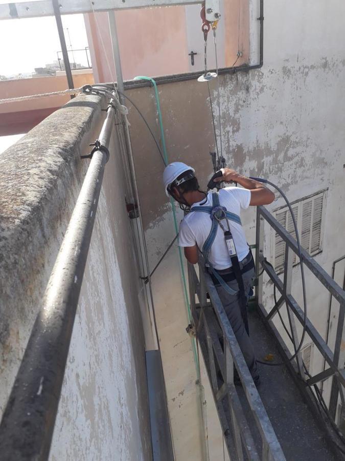 Aplicación de chorro de agua de alta presión.