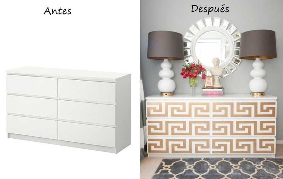 Trucos para modificar tus muebles de ikea ideas decoradores for Papel adhesivo decorativo para muebles
