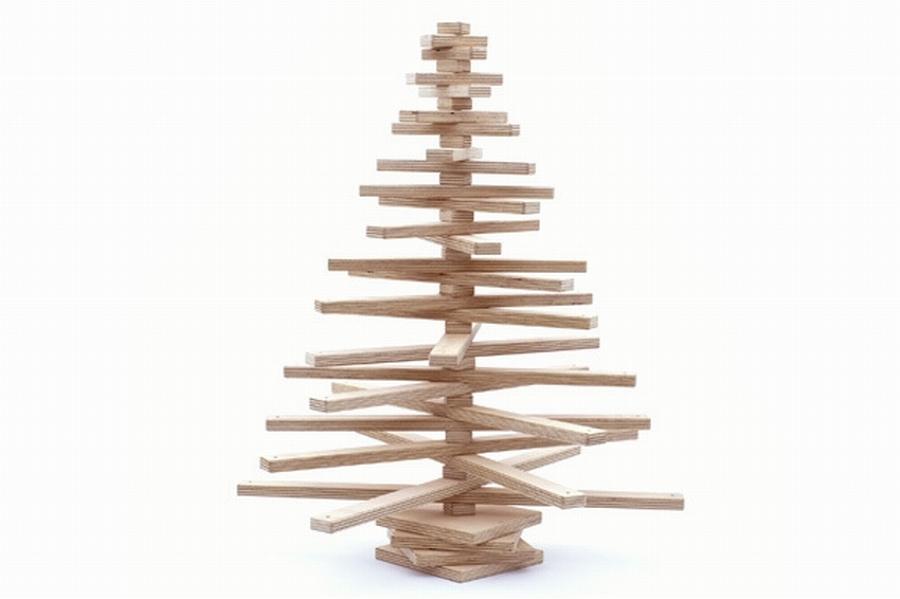 Árbol de listones de madera de haya
