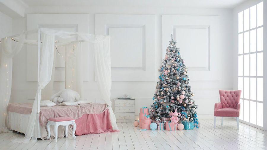 Árbol de Navidad en rosa