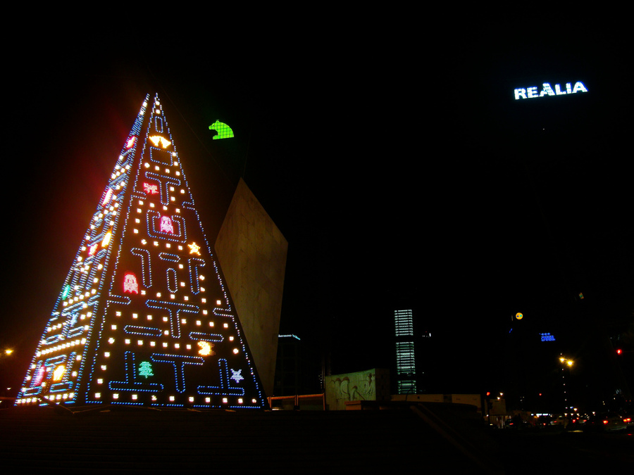 Árbol-de-Navidad-Pacman