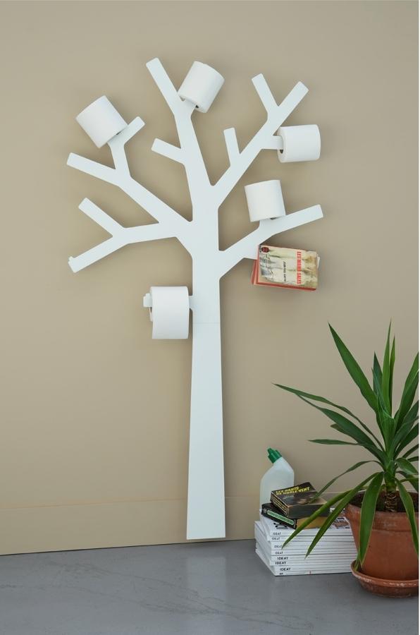 árbol portarrollo baño