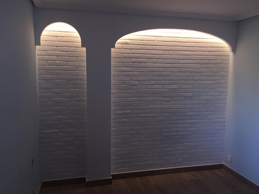 Foto arcos decorativos iluminados luz led de estancias acogedorassl 1417604 habitissimo - Arcos decorativos para puertas ...
