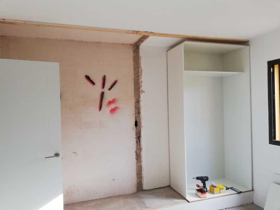 demolición armario antiguo