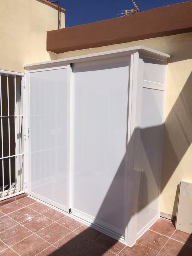 Foto armario de aluminio para terraza de torregrosa for Armarios para terrazas