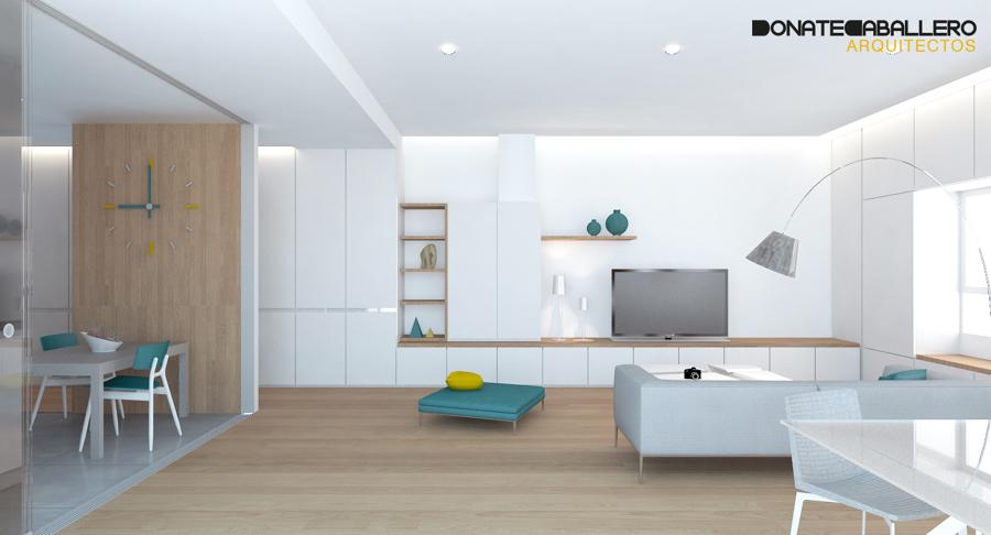 Foto armario pasillo sal n de donatecaballero arquitectos for Armarios para salon