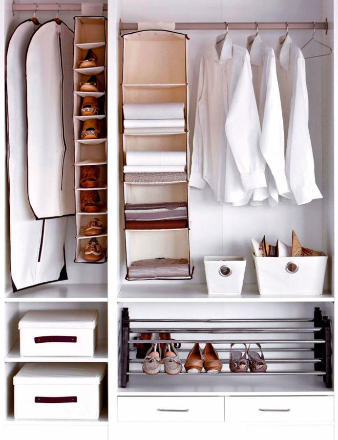 C mo sobrevivir si tienes un armario peque o ideas carpinteros - Como organizar armarios ...