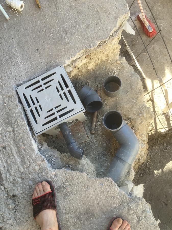 Arqueta aguas sucias