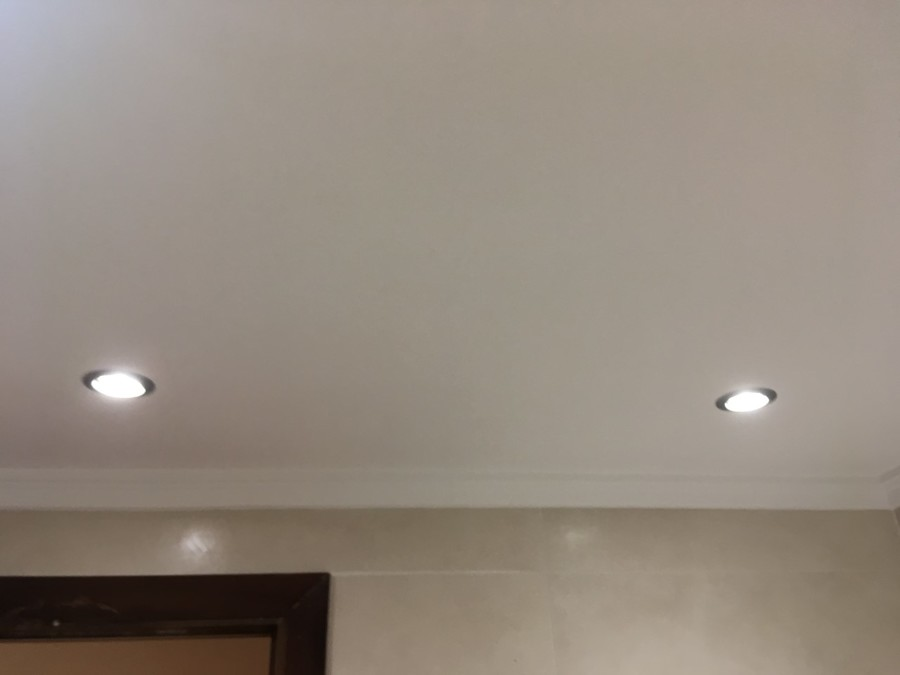 Arreglar techo de baños y poner focos led