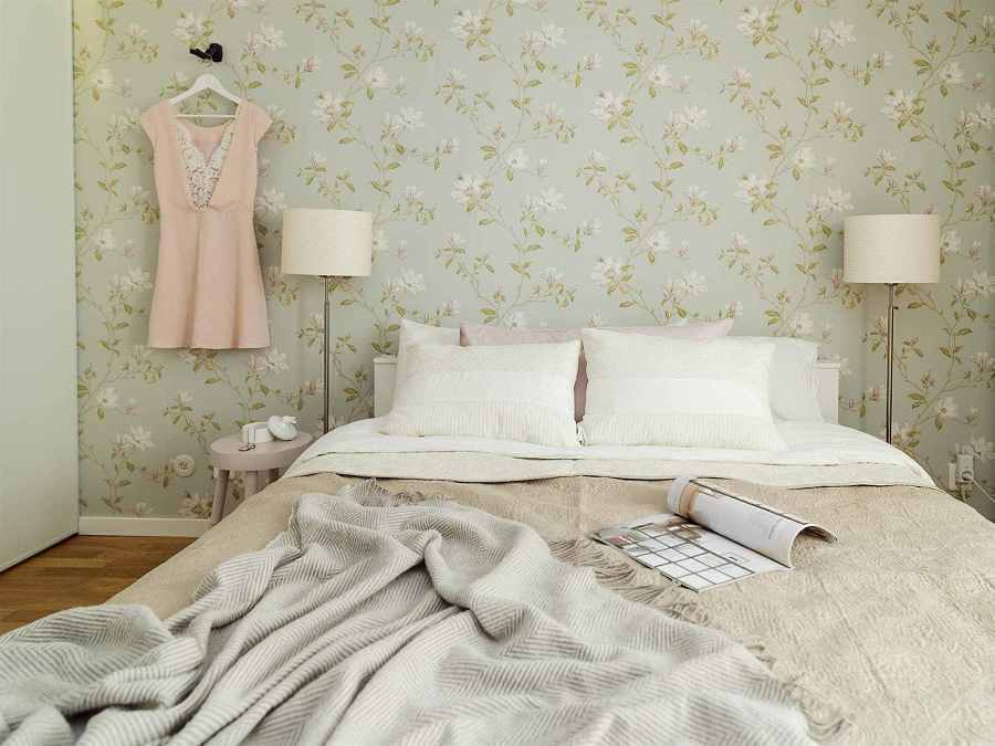C mo conseguir el dormitorio de la la land ideas decoradores - Poner papel pared ...