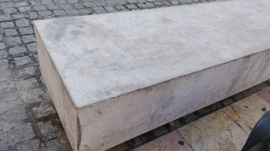 ASPECTO INICIAL DE LOS  BANCOS DE MARMOL