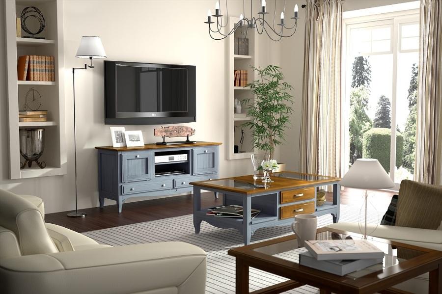 Foto azul y madera de carmen arcos muebles 798626 - Maderas moral jaen ...