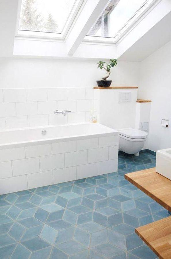 Suelos de cer mica gres porcel nico y azulejo ideas for Azulejos grandes bano