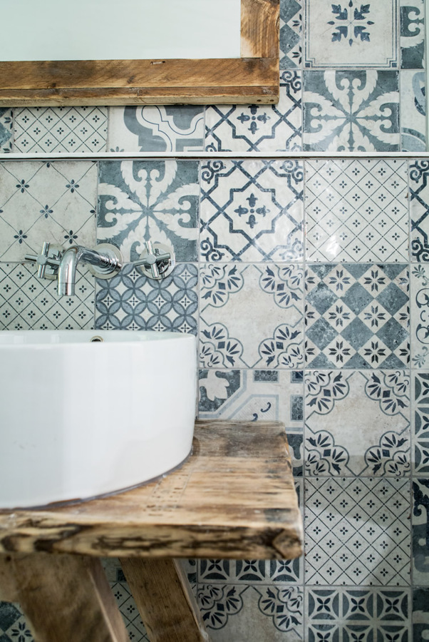 Brilliant Stylish With Patterned Floor Tiles Or One Wall Of Pattern Whether You
