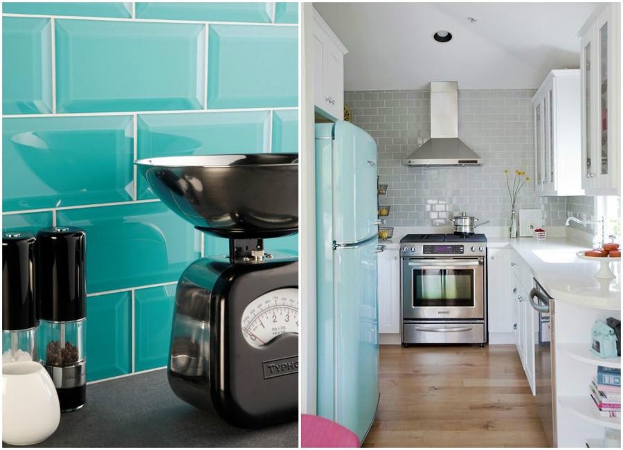 Azulejos tipo metro un cl sico que vuelve entre lo for Azulejos color azul