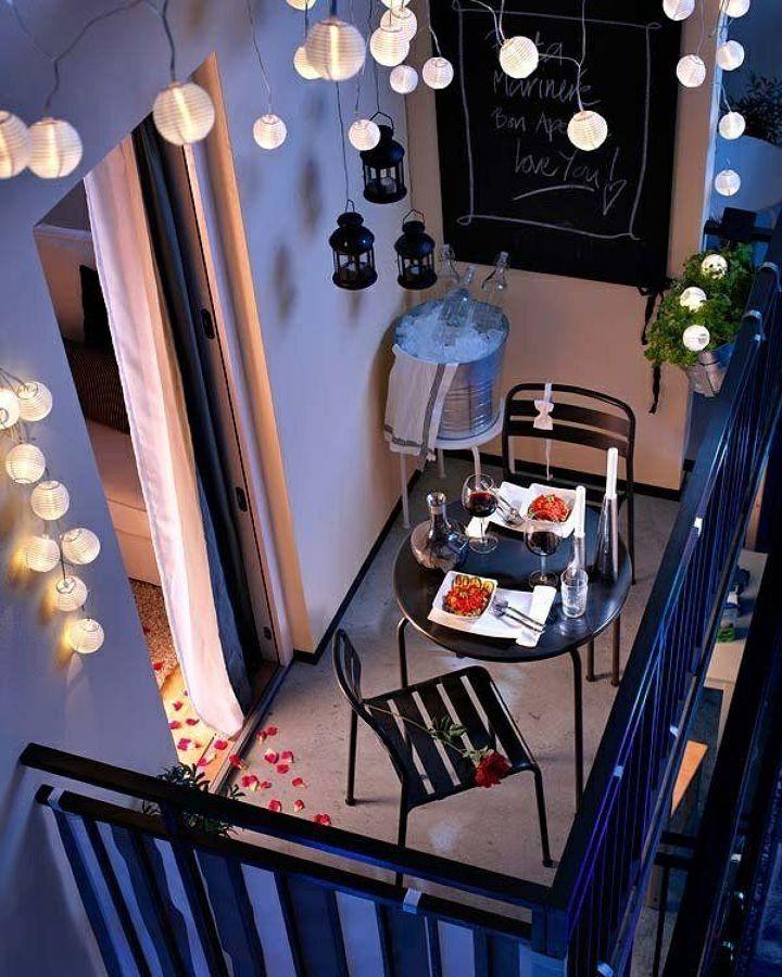 Balcón iluminado