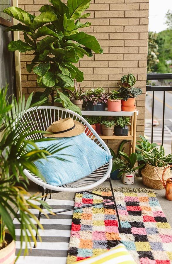 balcón plantas