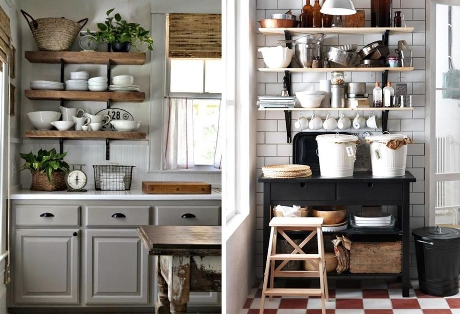 mima tu cocina con baldas y estantes al aire ideas