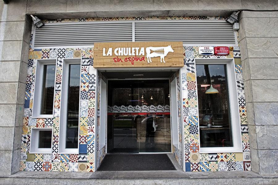 Foto baldosa hidr ulica mural en exterior de baldosas for Baldosas de exterior