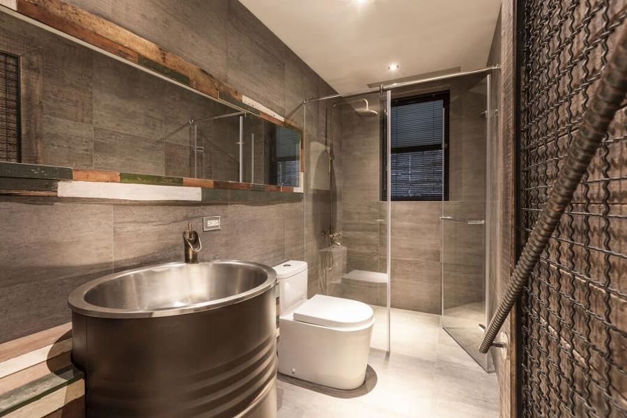 Baldosas Baño Modernas:baño con baldosas de cemento
