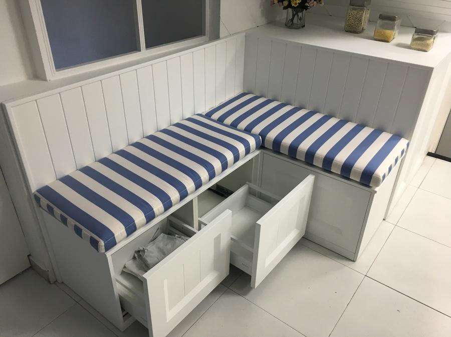Banco corrido para cocina trendy mesa y banco esquineros - Bancos esquineros para cocina ...
