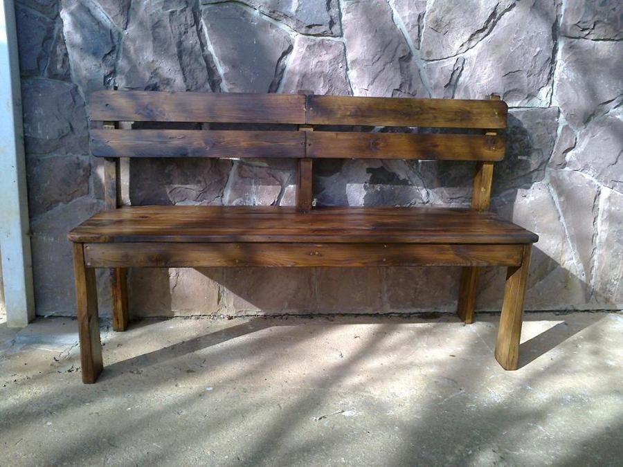 C mo hacer un banco de madera para el porche ideas - Como hacer un banco de madera ...