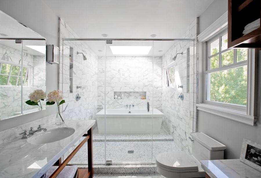bañera baño clásico