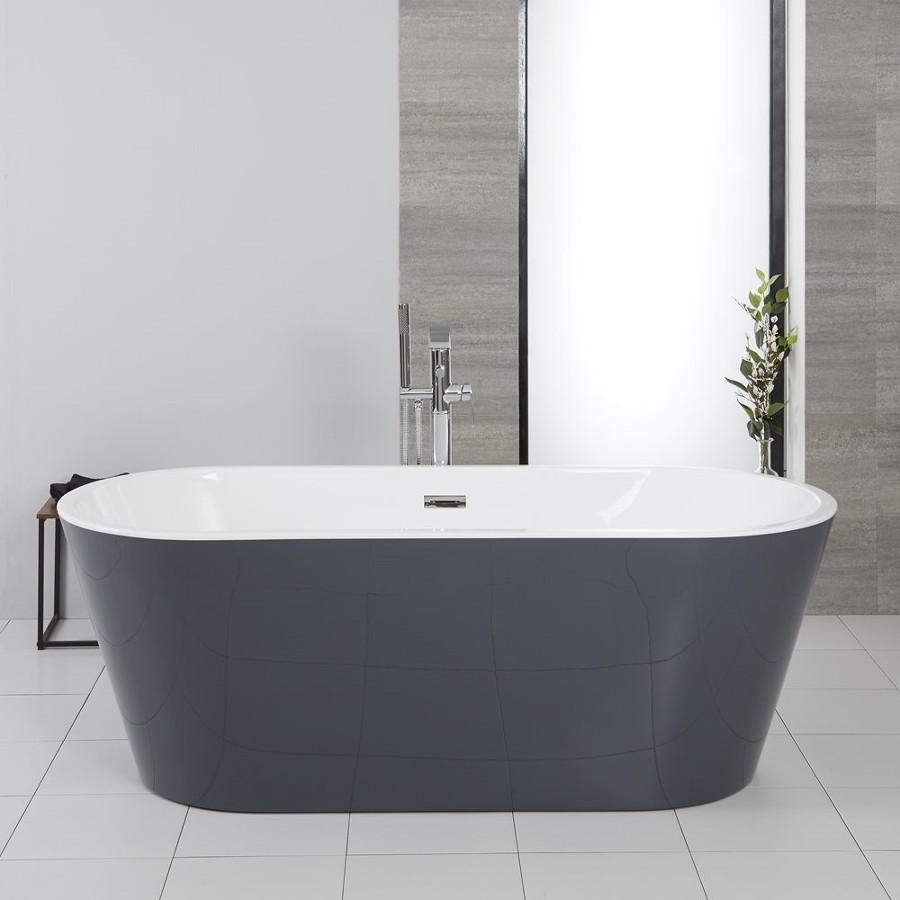 Bañera exenta en color gris