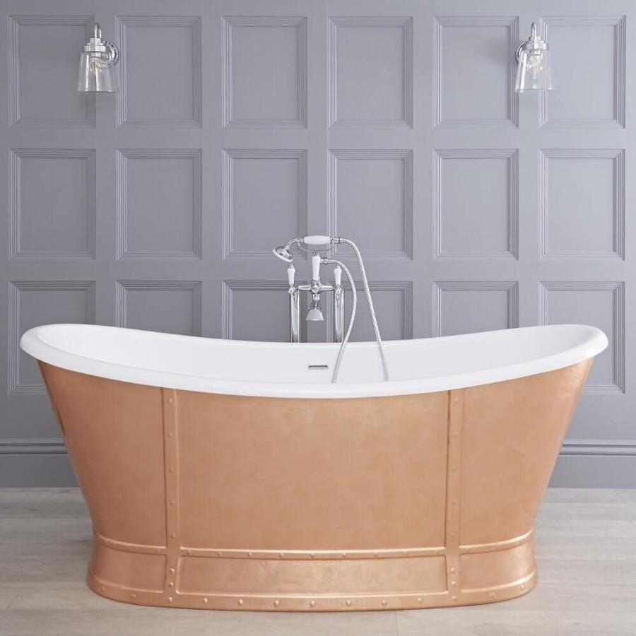 Bañera exenta de cobre