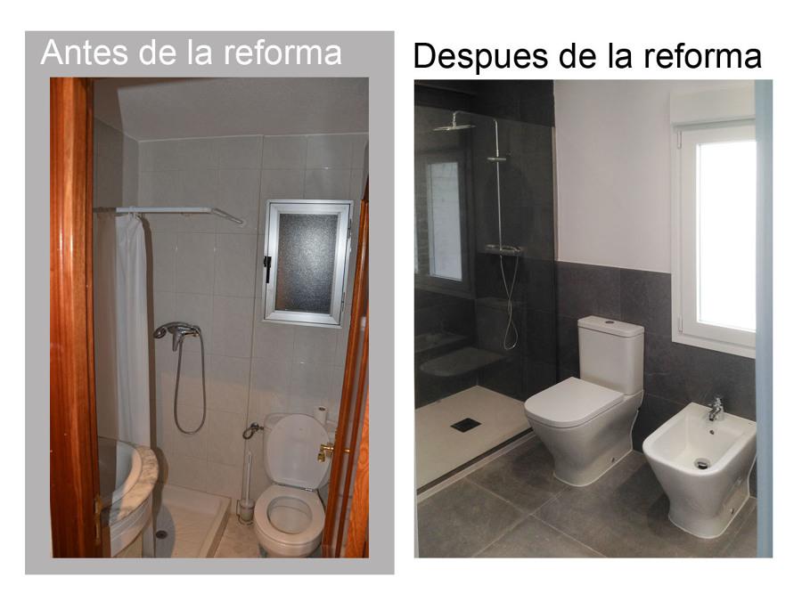 Baño 1  antes y despues