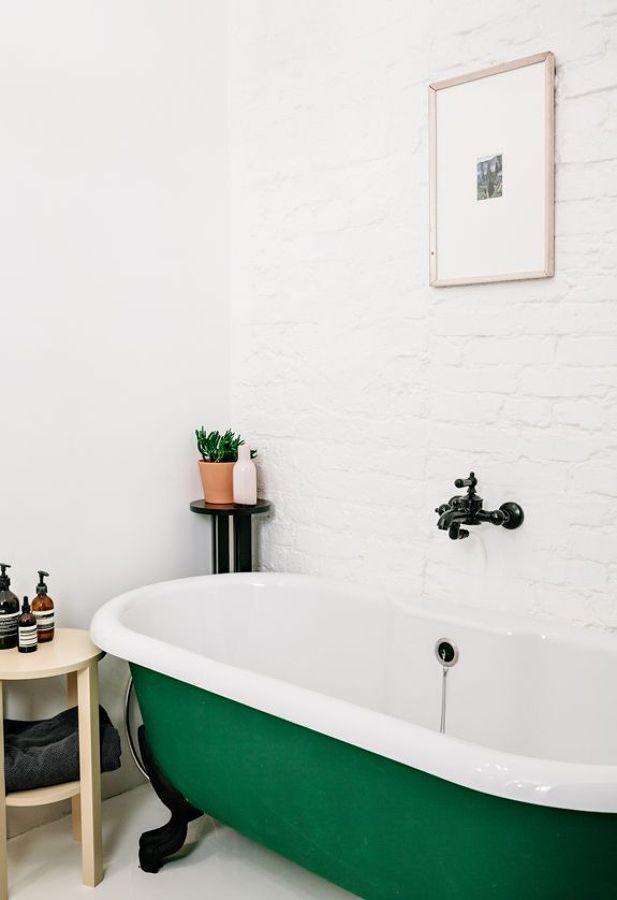 Bañera verde