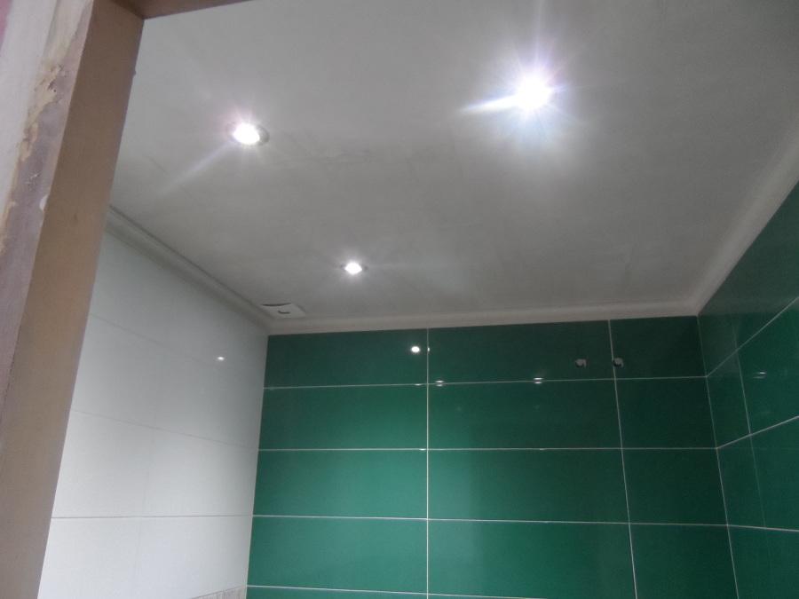 Foto ba o 2 techo escayola e iluminaci n de daniel y for Techos desmontables para banos