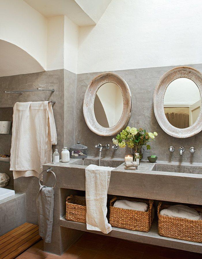 baño neorústico