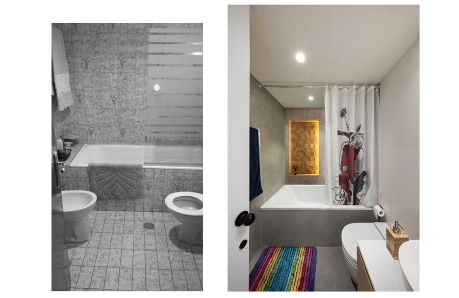 Baño completo, antes y después-