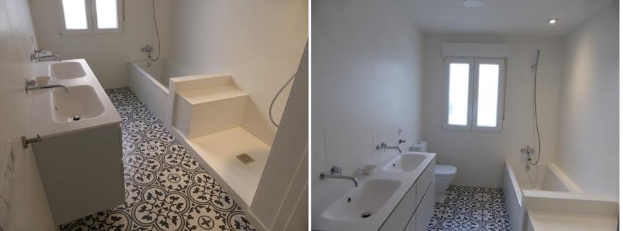 Baño con bañera y ducha.