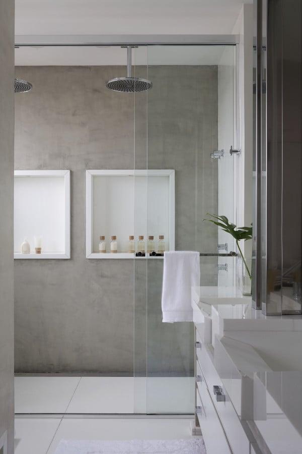 Foto ba o con ducha al ras suelo de elenatorrente d az for Ver banos con ducha