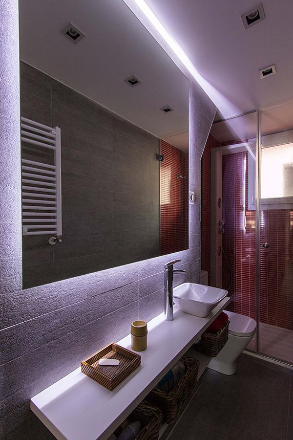 Una vivienda de 47 m2 bien aprovechados ideas reformas - Iluminacion indirecta led ...