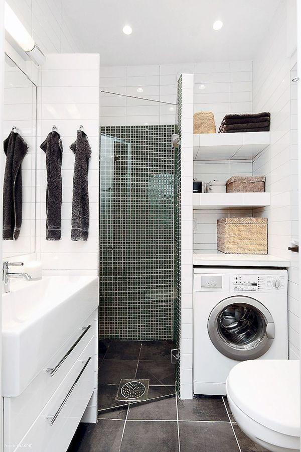 Baño con lavadora incorporada