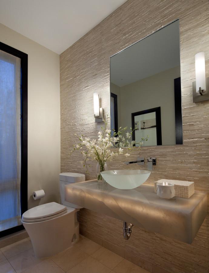 Foto Baño con Revestimiento de Piedra de Elenatorrente Díaz #1017297  Habit -> Banheiro Pequeno Zen