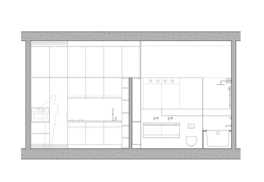 Una casa abierta luminosa y modular ideas arquitectos - Tabique de vidrio ...