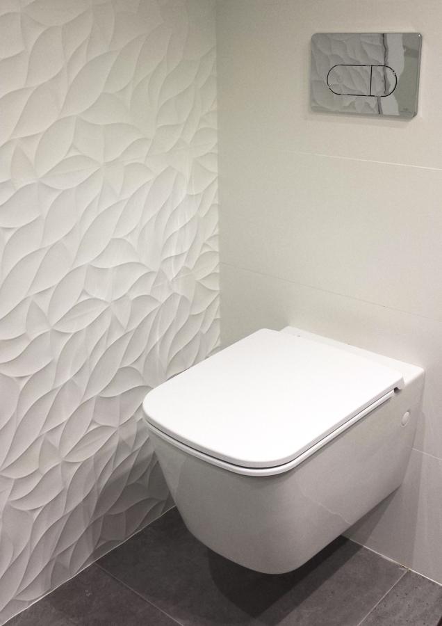 Baño con textura