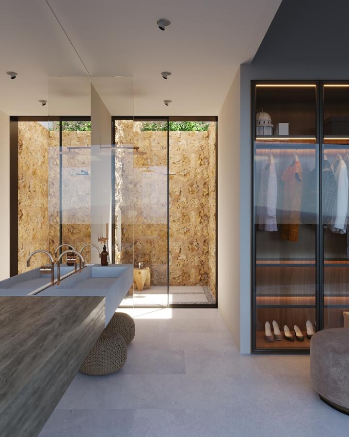 baño con vestidor
