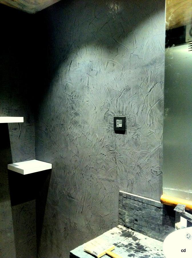 Foto ba o de dise o paredes de estuco veneciano de cdc for Estuco para banos
