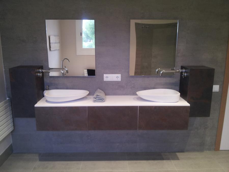 Fotos de lavabos para ba o for Banos con dos lavabos