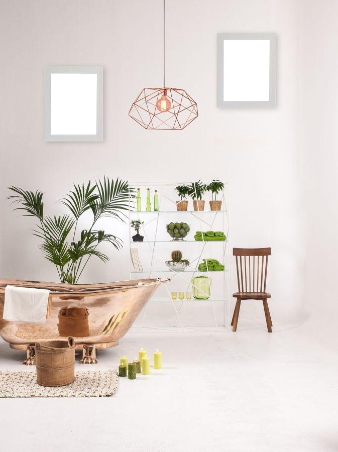 Baño de estilo moderno con bañera exenta