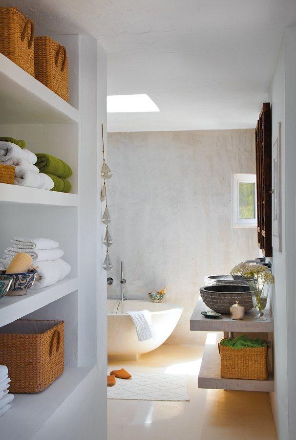 8 muebles auxiliares para el ba o diy obra ideas - Como colocar microcemento ...