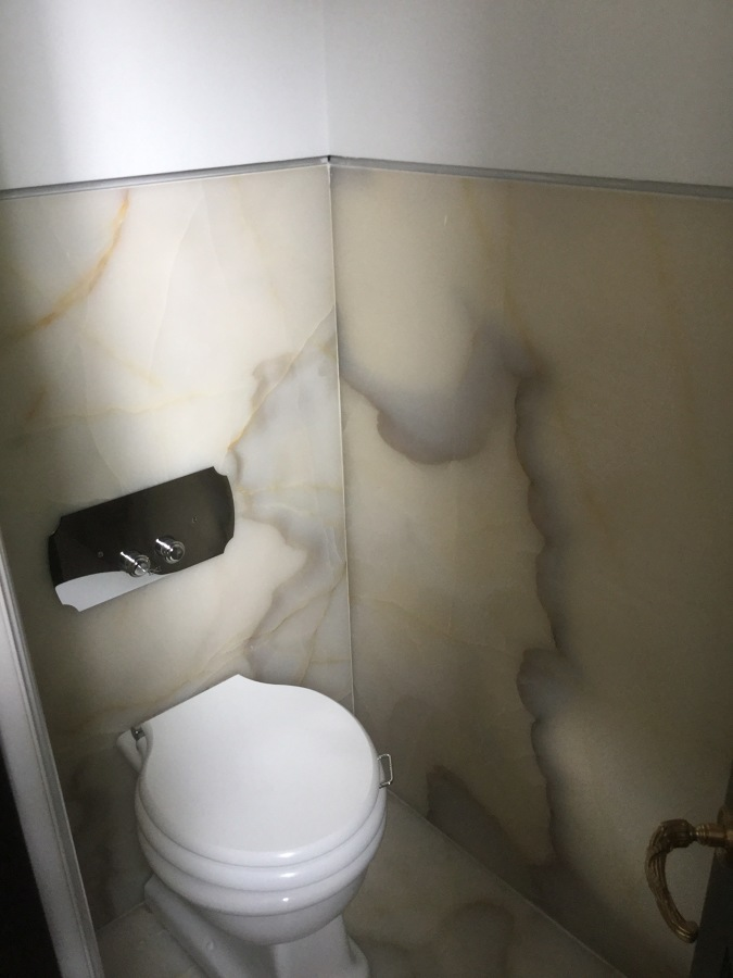Baño de ónix blanco